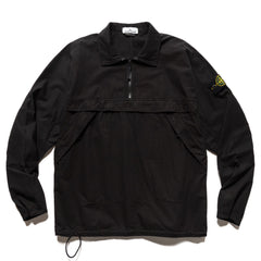 Stone Island Gauzed Cotton Ripstop Overshirt Black, Shirts