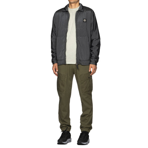 Stone Island Gauzed Cotton Jersey Garment Dyed 2 Pocket Sweat Pant Olive, Bottoms