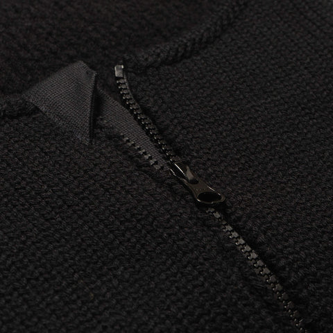 Stone Island Gauzed Pure Wool Zip Neck Gaiter Black, Accessories