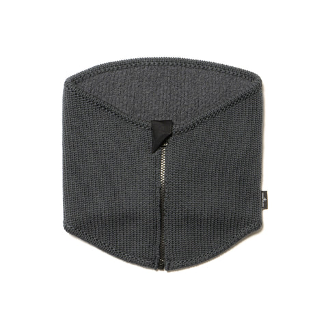 Stone Island Gauzed Pure Wool Zip Neck Gaiter Fumo, Accessories