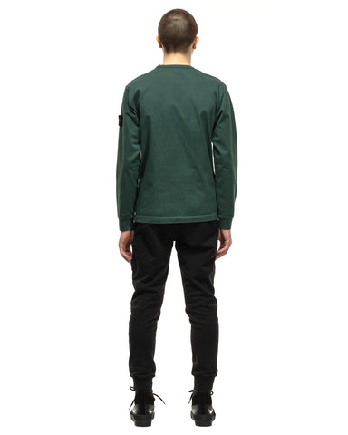 Stone Island Heavy Cotton Jersey LS Sweater Petrol, Sweaters