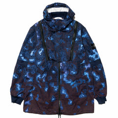 Stone Island Printed Heat Reactive Camo Zip Hooded Jacket Blue, Jackets