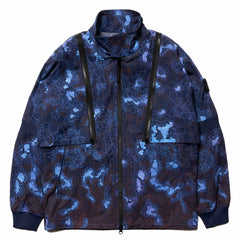 Stone Island Printed Heat Reactive Camo Zip Short Collar Jacket Blue, Jackets