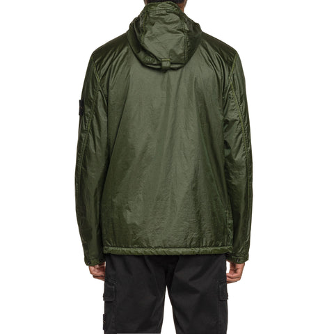Stone Island Lamy Flock Garment Dyed Zip Hooded Jacket Muschio, Outerwear