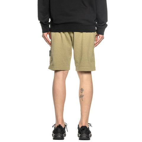 "Stone Island Malfile Fleece Garment Dyed ""Old Effect"" 1 Pocket Sweat Short Corteccia, Bottoms"