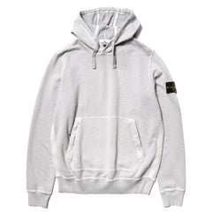 "Stone Island Malfile Fleece Garment Dyed ""Old Effect"" Pullover Hoodie Polvere, Sweaters"