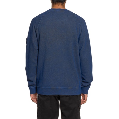 Stone Island Melange Cotton Fleece Dust Color Crewneck Sweater Pervinca, Sweaters