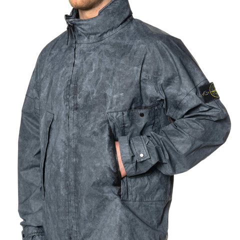 Stone Island Membrana 3L Dust Color Finish Asymmetrical Zip Jacket Black, Outerwear
