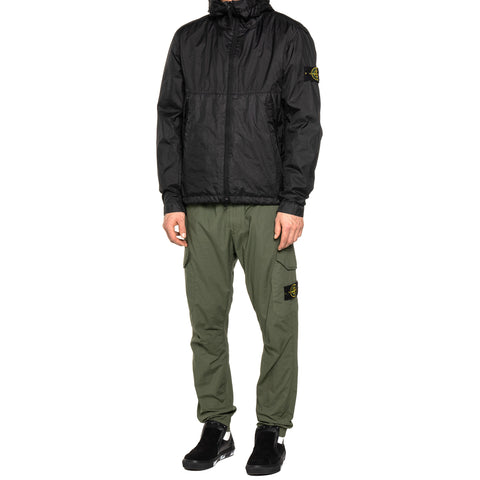 Stone Island Membrana 3L Garment Dyed Hooded Parka Black, Outerwear