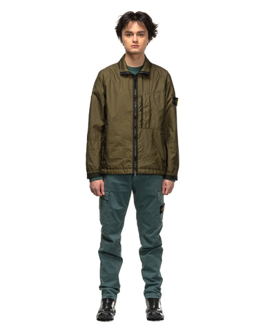 Stone Island Membrana 3L Light Zip Jacket Olive, Outerwear