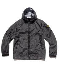 Stone Island Membrana 3L Zip Hooded Jacket Black, Outerwear