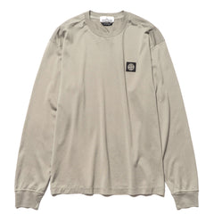 Stone Island Mercerised 60/2 Cotton Jersey Cotton Dyed LS T-Shirt Fango, T-Shirts