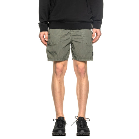 Stone Island Metal Seersucker TC Garment Dyed Easy Short Olive, Bottoms
