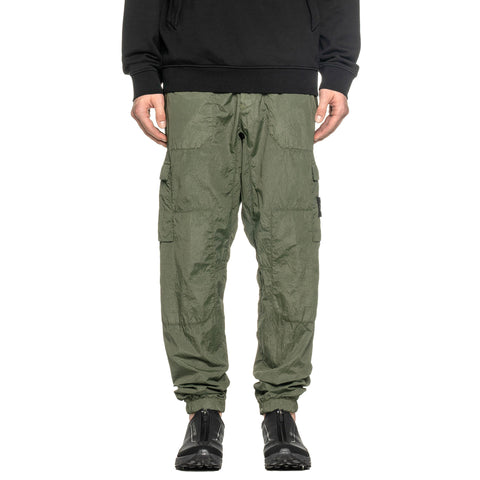 Stone Island Metal Seersucker TC Garment Dyed Pant Olive, Bottoms
