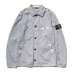 Stone Island Metal Seersucker TC Garment Dyed Shirt Jacket Polvere, Outerwear