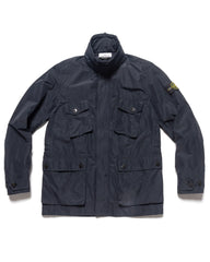 Stone Island Micro Reps Field Jacket Navy Blue, Outerwear
