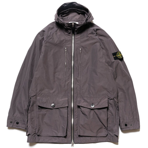 Stone Island Micro Reps Hooded 2 Pocket Jacket Pewter, Jackets