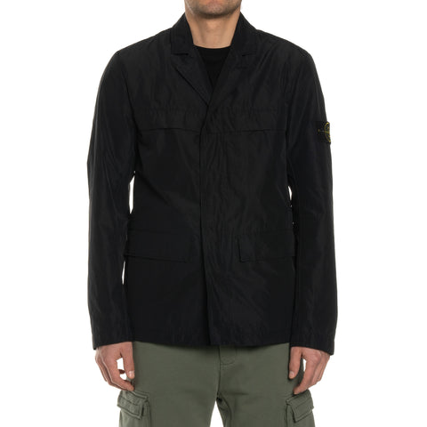 Stone Island Micro Reps Shirt Jacket Black, Outerwear