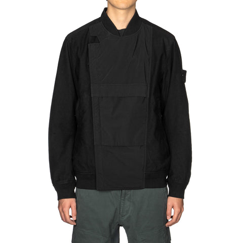 Stone Island Diagonal Wool Ghost Piece Tech Bomber Jacket Black, Jackets