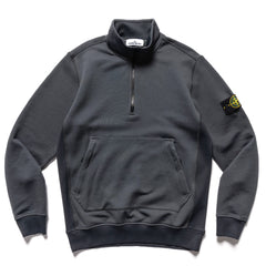 Stone Island Nylon Cotton Fleece Half Zip PO Sweater Fumo, Sweaters