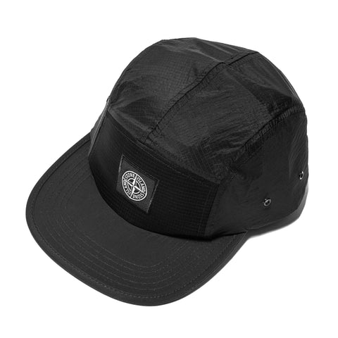 64aaf4d2004 ... Headwear Stone Island Nylon Metal Ripstop 5 Panel Cap Black