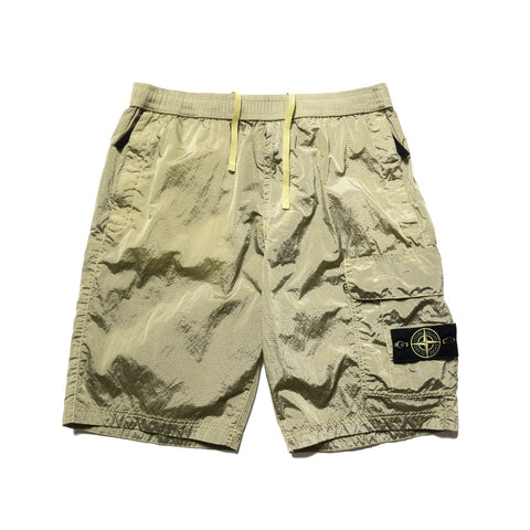 Stone Island Nylon Metal Ripstop Garment Dyed 1Pocket Short Lemon, Bottoms