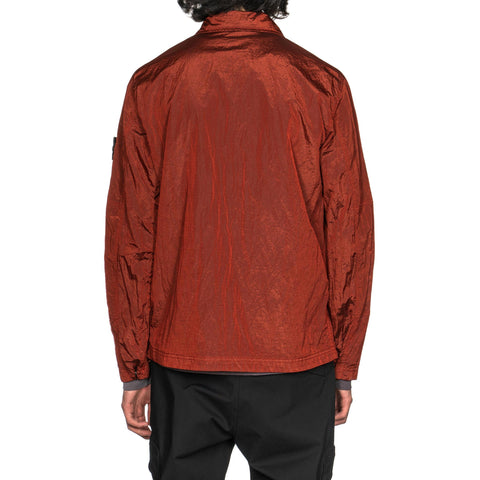 Stone Island Nylon Metal Ripstop Garment Dyed Zip Shirt Jacket Brick, Jackets