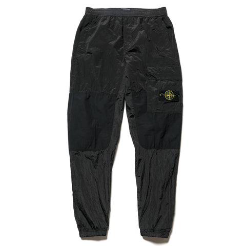 Stone Island Nylon Metal Watro Ripstop Garment Dyed 1 Pocket Pant Black, Bottoms