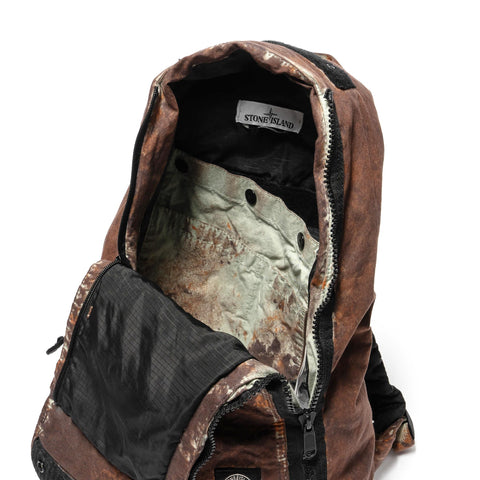 Stone Island Paintball Camo Cotton Cordura Garment Dyed Rucksack Moro, Accessories