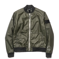 stone island shadow project Poly Hide 2L Garment Dyed Bomber Jacket Militare
