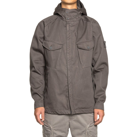 Stone Island Raso Gommato Double Ghost Piece Hooded Jacket Fumo, Outerwear