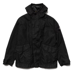 Stone Island Reflective Weave Ripstop-TC Garment Dyed Parka with Liner Black, Outerwear