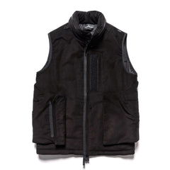 Stone Island Shadow Project Black Moleskin Vest Black, Outerwear