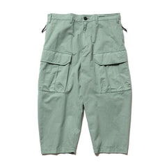 Stone Island Shadow Project Brushed Cotton Satin Garment Dyed Mil Pant Salvia, Bottoms