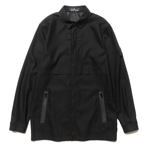 Stone Island Shadow Project Button Down SW 3L Long Sleeve Shirt Black, Jackets