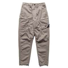 Stone Island Shadow Project Color Weft Cotton Satin Garment Dyed Zip Pocket Pant Gray, Bottoms
