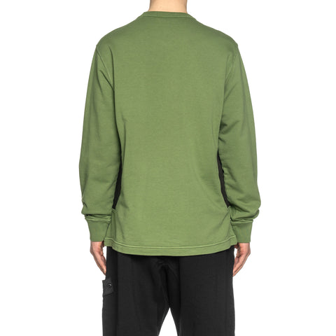 Stone Island Shadow Project Cotton Fleece Compact Treated Garment Dyed Crewneck Olive, Sweaters