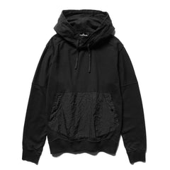Stone Island Shadow Project Cotton Fleece Compact Treated Garment Dyed Hooded Sweater Black, Sweaters