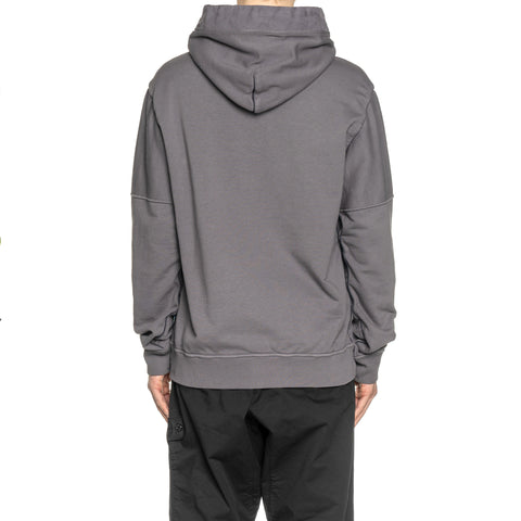 Stone Island Shadow Project Cotton Fleece Compact Treated Garment Dyed Hooded Sweater Peltro, Sweaters