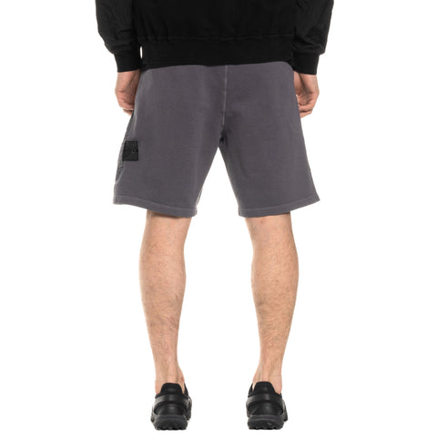 Stone Island Shadow Project Cotton Nylon Pique Fleece Compact Treated Garment Dyed Sweatshort Peltro, Bottoms