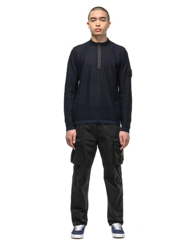 Stone Island Shadow Project Double Face Mesh Stitching Half Zip Knit Ink, Knits