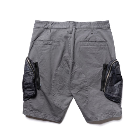 Stone Island Shadow Project Enzyme Treated Comfort Cotton Gabardine Garment Dyed Shorts Peltro, Bottoms
