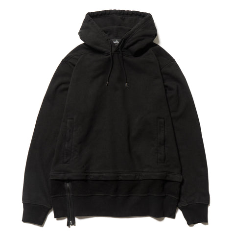Stone Island Shadow Project Gauzed Heavy Fleece Garment Dyed Hooded Sweater Black, Sweaters