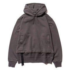Stone Island Shadow Project Gauzed Heavy Fleece Garment Dyed Hooded Sweater Grigio, Sweaters