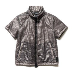 Stone Island Shadow Project Grid Nylon Garment Dyed Short Sleeve Jacket Grigio, Jackets