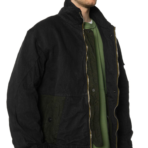 Stone Island Shadow Project Heavy Compact Cotton Garment Dyed Jacket Black, Outerwear