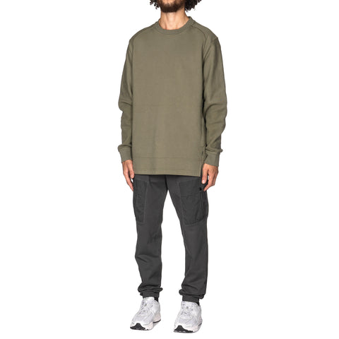Stone Island Shadow Project Heavy Fleece Garment Dyed Verde Militare, Sweaters