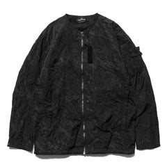 Stone Island Shadow Project Imprint Nylon Garment Dyed Zip Shirt Black, Tops