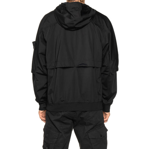 Stone Island Shadow Project Light Nylon-R Garment Dyed Pullover Hooded Jacket Black, Outerwear