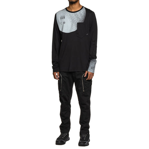 Stone Island Shadow Project Mako Cotton Jersey Garment Dyed LS T-Shirt Black, T-Shirts